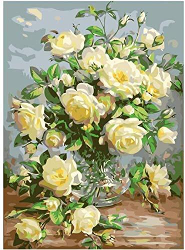 Legpuzzels 1000 tabletten Vaas bloem op tafel Adolescent Intellectueel Educatief Spel Stress Reliever Verjaardagscadeau Speelgoed Gepersonaliseerde Moderne Kunstdecoratie 70x50cm