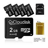5Pack 2GB Micro SD Card 2 GB MicroSD Memory Card Class 6,Bulk Sale