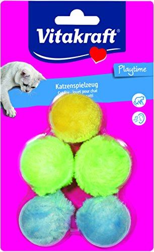 Vitakraft Plüschbälle für Katzen, 5 Stück