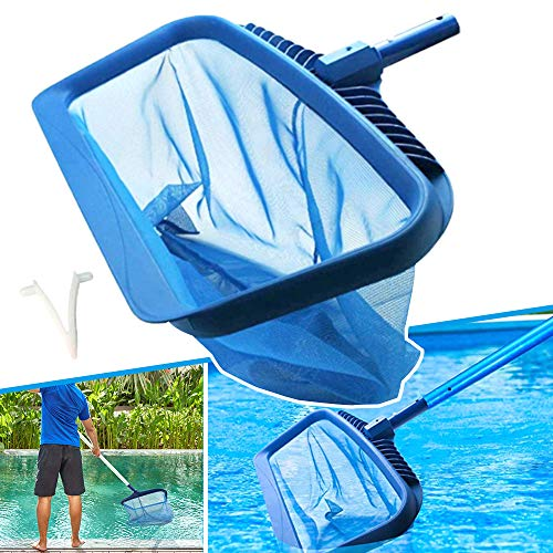 Anothera Upgraded Pool Skimmer Net, Heavy Duty Leaf Rake for Cleaning Swimming Pool & Pond, Fine Mesh Deep Bag Catcher with Strong Plastic Frame