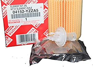 Toyota Genuine Parts 04152-YZZA5 Replaceable Oil Filter Element 1 Case (QTY 10)