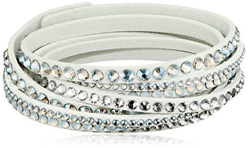 Swarovski Damen-Armband Slake Deluxe White Opal Stoff Glas weiß - 5120520