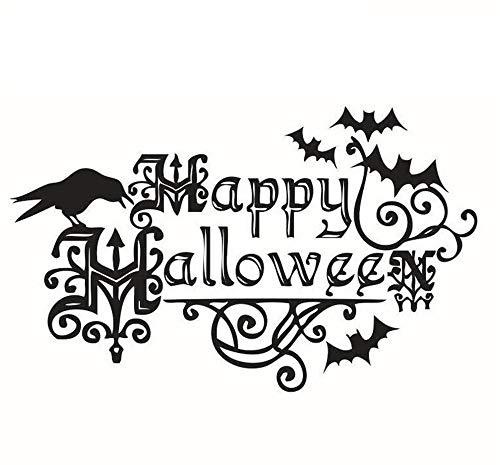 QYL Kinder-Stanza Happy Halloween-sprei voor wandstickers, motief: Engeland, waterdicht, afneembaar