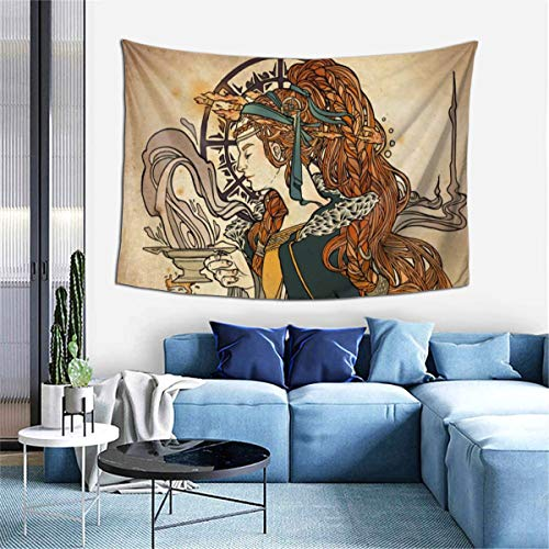 Imbolc Brigid Goddess Celtic Cross Blessing Rituals Candle Tapestries For Dorm Living Room Bedroom TV Backdrop Table Cloth Wall Blanket Beach Towels Profession Home Decor 60X40 Pattern Inches