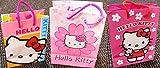 DUE ESSE SRL Hello Kitty - Juego de 12 bolsas de papel plastificado con asas de cuerda