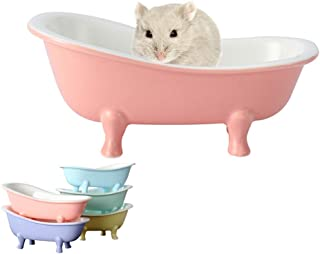 HenryDong Small Animal Hamster Bed, Sand Bathtub Accessories Cage Toys, Ceramic Relax Habitat House, Sleep Pad Nest for Ha...