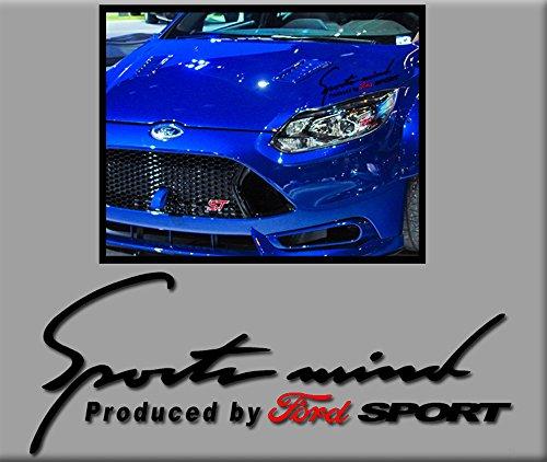Ecoshirt 1A-L0Z3-L9Y3 Pegatinas Sportsmind Ford R246 Stickers Aufkleber Decals Autocollants Adesivi, Negro