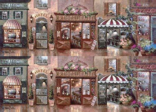 VGFTP 1000 stuks houten puzzel, puzzelbeha in brandende puzzel, verbetering van de relatie tussen ouders en kinderen Educatief speelgoed voor volwassenen - Romantische winkelstraat