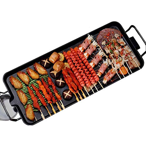 Kacsoo Electric Grill Smokeless Non-Stick Indoor BBQ Grill Set Electric Baking Pan Multi-Function with 5 Adjustable Temperature, for Indoor Outdoor 1-6 People, (26.3''x11'')(XL)