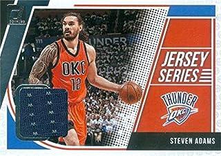 Steven Adams player worn jersey patch basketball card (Oklahoma City Thunder) 2018 Panini Donruss #JSSAD