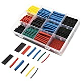 560pcs 2:1 H-eat Shrink Tubing Assortment Kit Electric Insulation W-rap Cable Sleeve with Storage Box Portable