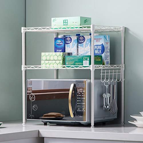 YxSD - Tendedero de hierro forjado para cocina doble de 54 x 35 x 58 cm (color: blanco)