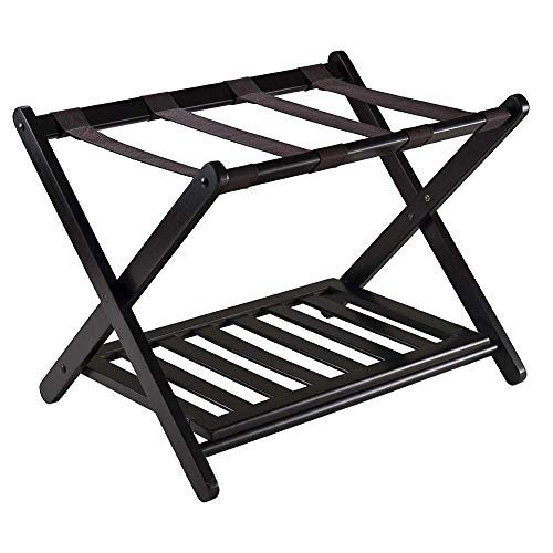 Suitcase Stand Wooden Luggage Stool Bamboo Foldable Shoe Rack Hotel Bedroom Furniture Shelf