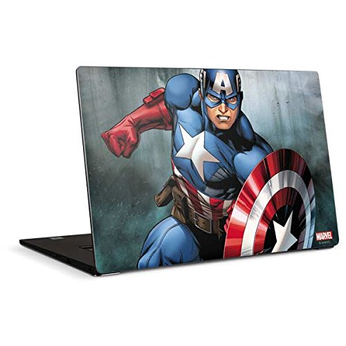 Skinit Decal Laptop Skin Compatible with Dell XPS 15in (2017) - Officially Licensed Marvel/Disney Captain America Design