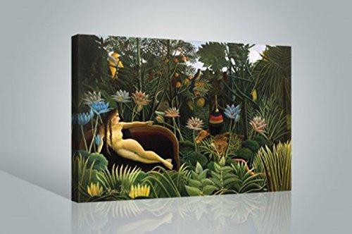 1art1 Henri Rousseau - Der Traum, 1910 Bilder Leinwand-Bild Auf Keilrahmen | XXL-Wandbild Poster Kunstdruck Als Leinwandbild 120 x 80 cm