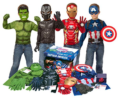 Imagine by Rubie#039s Marvel Avengers Play Trunk with Iron Man Captain America Hulk Black Panther Costumes/Role Play Amazon Exclusive