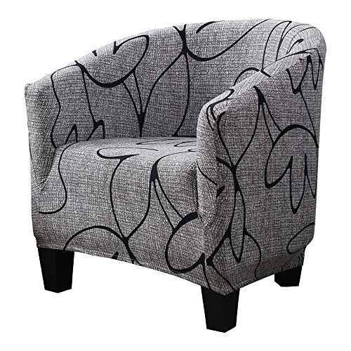 SearchI Tub Chair Slipcover, Stretch Spandex Removable Pattern Accent Chair Covers, Sofa Cover Furniture Protector for Living Room Arm Chair Cover Geometric Couch Covers