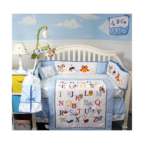 Soho Baby Crib Nursery 9 Piece Bedding Set, for Boys