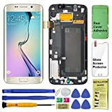 Display Touch Screen (AMOLED) Digitizer Assembly with Frame for Samsung Galaxy S6 Edge (5.1 inch) G925A (AT&T) / G925T (T-Mobile) / G925F (Global) (for Phone Repair Replacement) (Gold Platinum)