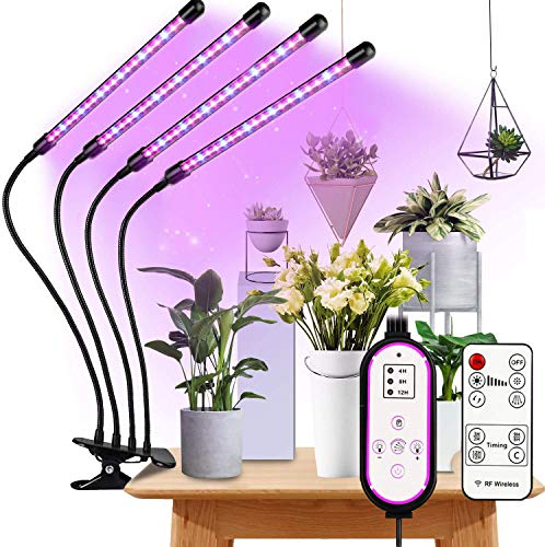 Pflanzenlampe LED, Pflanzenlicht Vollspektrum, 360°Einstellbar LED Grow Lampe Pflanzenleuchte, Wachstumslampe mit Zeitschaltuhr für Gartenarbeit Bonsais, für Zimmerpflanzen, Gartenarbeit, Gewächshaus