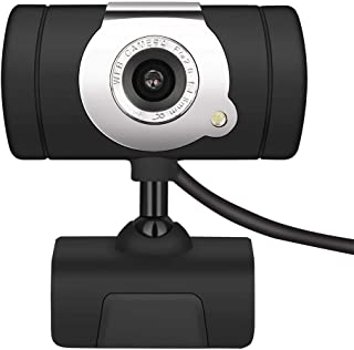 s61Ylu 12 Megapixel HD USB2.0 Web Camera with Clip-On Microphone for PC Computer Black