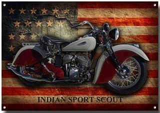 VINTAGE SIGN DESIGNS Indianer Sport Scout Metall Schild   285mm x 410mm x 1mm Schild