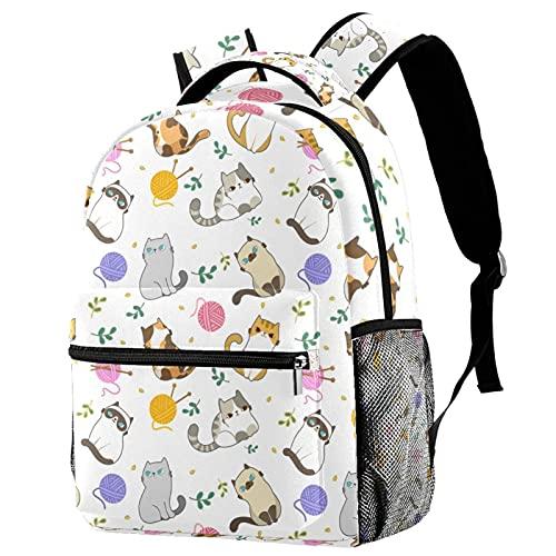 Zaino per bambini per ragazzi e ragazze zaino per la scuola carino zaini per scuola elementare o asilo unico progettato sacchetto scuola 16 pollici zaino per gatti e palle