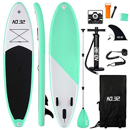 Tabla Hinchable de Paddle Surf + SUP Paddle Remo de Ajustable | Bomba |...