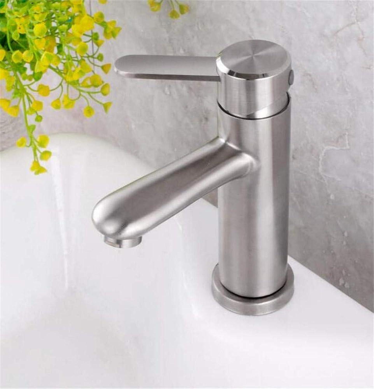 360 ° drehbaren Wasserhahn Retro Wasserhahn kaltem Wasser Bad Wasserhahn Waschtischarmatur 304 Edelstahl gebürstet