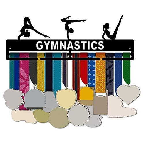 Exuberanter Medaillenhalter Turnen, Medal Hanger Gymnastics, Eisen Kunst Medaillen Aufhänger, 40,6X14,3X0,2CM