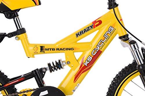 "KS Cycling Kinder Mountainbike 16"" Krazy Fahrrad, gelb - 4"
