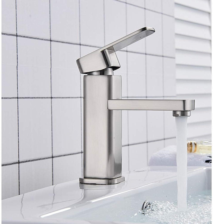XHCP Waschtischarmatur Waschbecken Wasserhahn - Verbreitet Nickel Gebürstet Deck Montiert Einhand EIN Loch Badarmaturen