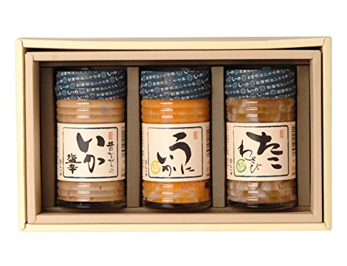 【メーカー直送】しいの食品 松五郎3本セット(IC-3) いか塩辛 うにいか たこわさび 130g×3本 母の日 珍味 おつまみ ご飯のお供 ギフト 詰め合わせ ご贈答