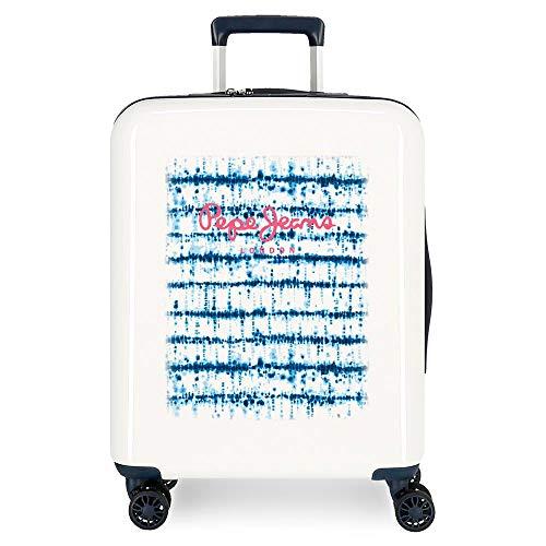 Pepe Jeans Faina Cabin Suitcase Beige 40 x 55 x 20 cm Rigid ABS Integrated TSA Lock 38.4L 2.5 kg 4 Double Wheels Hand Luggage