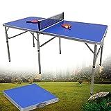 Table de ping-pong pliable pour l'intérieur et l'extérieur - Pour les fêtes de famille avec filet