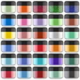 Epoxidharz Farbe Mica Pulver - 30 Farben x 5g Seifenfarbe Set Glitter Pigmente Pulver - Metallic...