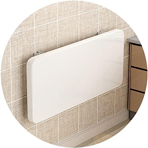 ZWYSL Mesa Plegable de Pared Fácil de Instalar para Estudio, Dormitorio, Lavandería, Balcón, Cocina Escritorio Flotante, Blanco 20 Tamaños (Color : White, Size : 90×40cm)