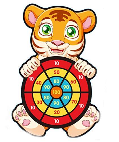 OUYA Juegos de Mesa de Dardos para niños con 12 Bolas Adhesivas para Fiestas en Interiores y Exteriores, Juego para Padres e Hijos Regalo de cumpleaños para niños y niñas de 3 años en adelante,Kitten