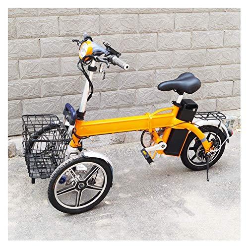 MMJC Plegable eléctrico triciclo, invertido tres ruedas eléctrica de múltiples funciones del...