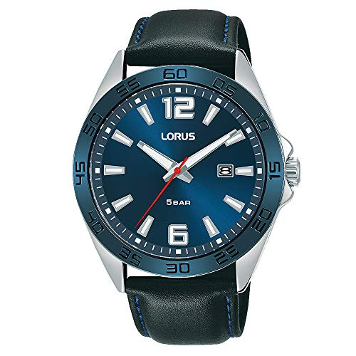 Seiko UK Limited - EU Reloj Analógico para Hombres de Cuarzo con Correa en Cuero RH917NX9