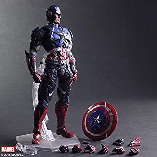 XingKunBMshop 28cm Avengers Anime Toys Gifts Captain America Character Sculpture Decorations Beautiful Anime Decorations C...
