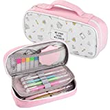 Pencil Case Large Capacity Pencil Bag Pen Pouch Box Marker Cute Pink Pencil Holder Office School Supplies Zipper Stationery Organizers for Girls Kids Teens Adults Students Women