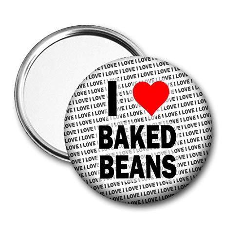 Ik hou van gebakken bonen zak/handtas Spiegel - Gift - Verjaardag - Stocking Filler