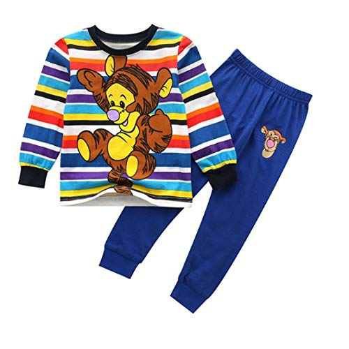 LOKKSI - Conjunto de pijama para niños y niñas, ropa de do
