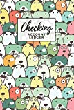 Checking Account Ledger: Pastel Dogs with Funny Faces Pattern Cover / Check Register for Personal Checkbook / 2,400+ Entries / Spending Tracker / Great Gift for Organized Person