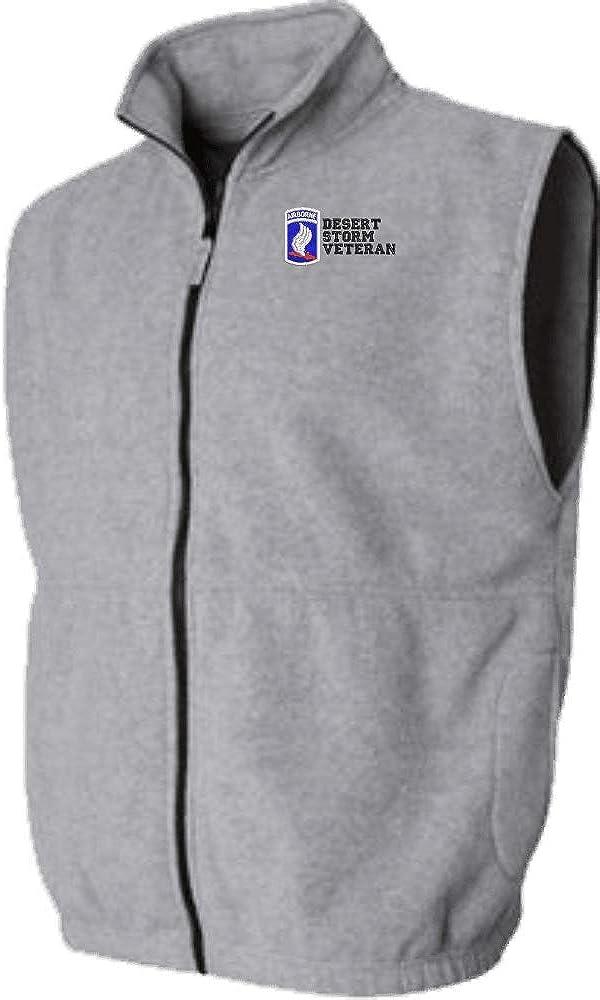 173rd Airborne Division Desert Storm Veteran Sierra Pacific Full Zip Fleece Vest