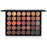 Beauty Box The Artist Eye Shadow Palette, Professional Matte and Shimmer Warm Chocolate and Nude Colors, Glow with Highly Pigmented Shades, Espresso 35 colors