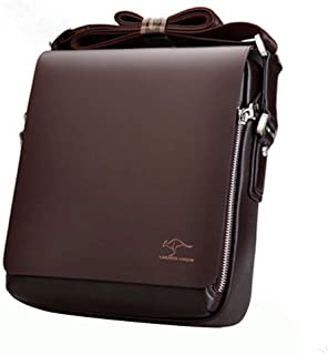 attachmenttou Kangaroo Kingdom Brand Men Leather Messenger Shoulder Bags Business Handbag