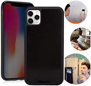Wingcases for iPhone 11 Pro Max 6.5 inch Case, Anti Gravity Suction Stick on The Mirror Glass Flat Smooth Surface Selfie Cover with Dust Proof Film