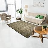 Alfombra Kilim 60 x 110 cm, rectangular Simply yute, color beige